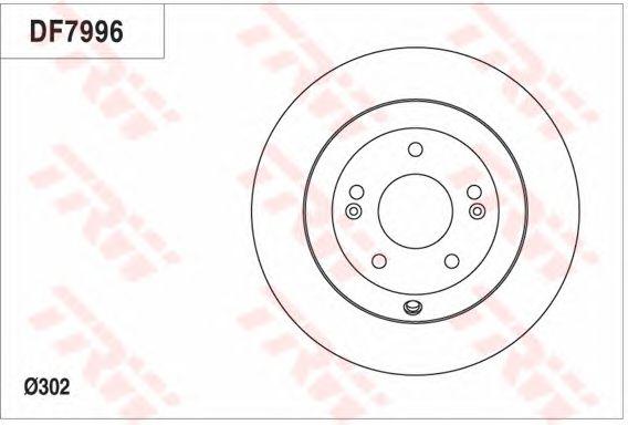 Тормозной диск TRW DF7996