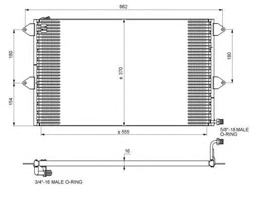 Радиатор кондиционера NRF 35034