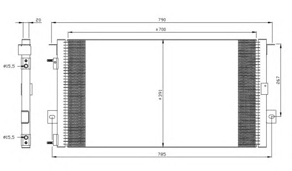 Радиатор кондиционера NRF 35156