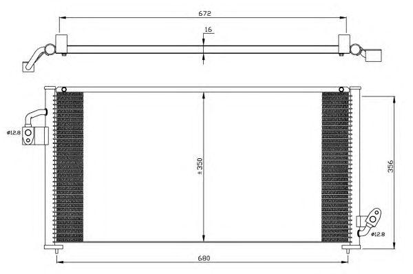 Радиатор кондиционера NRF 35523