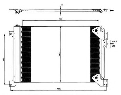 Радиатор кондиционера NRF 35625