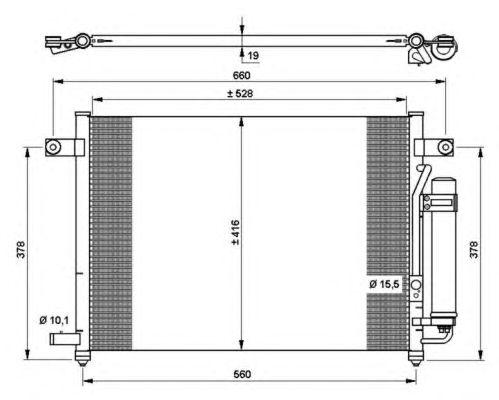 Радиатор кондиционера NRF 35767