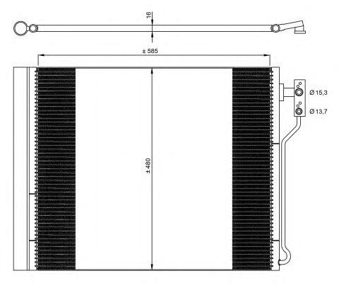 Радиатор кондиционера NRF 35971