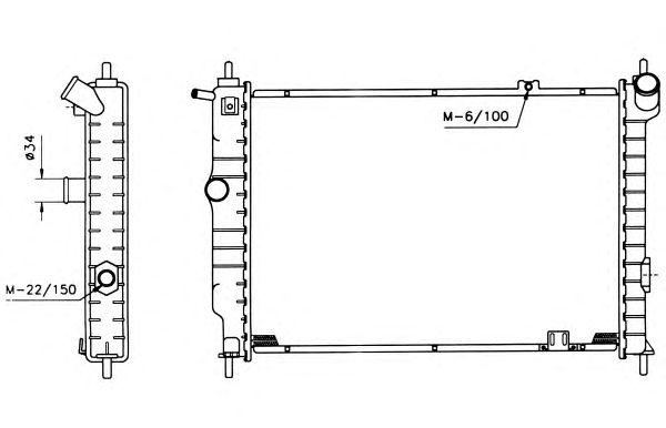 Радиатор, охлаждение двигателя NRF 504647