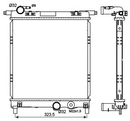 Радиатор, охлаждение двигателя NRF 53101
