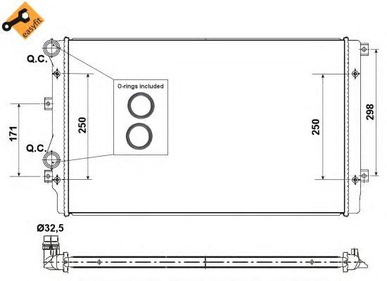 Радиатор, охлаждение двигателя NRF 53406