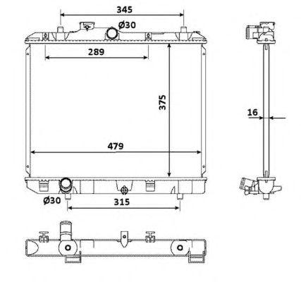 Радиатор, охлаждение двигателя NRF 53918