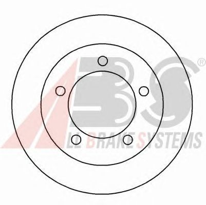 Тормозной диск A.B.S. 15026