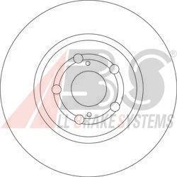 Тормозной диск A.B.S. 17510