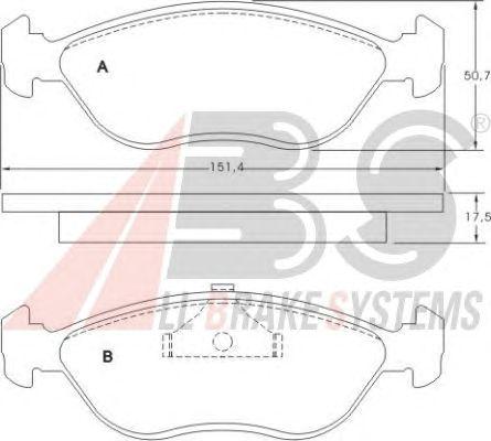 Тормозные колодки A.B.S. 36762