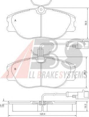 Тормозные колодки A.B.S. 36800
