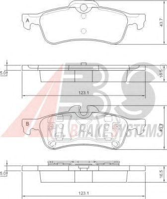 Тормозные колодки A.B.S. 37305