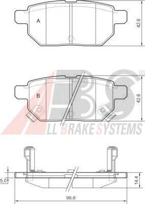 Тормозные колодки A.B.S. 37580