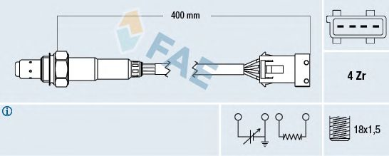 Лямбда-зонд FAE 77211