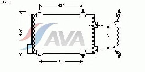 Радиатор кондиционера AVA QUALITY COOLING CN5231