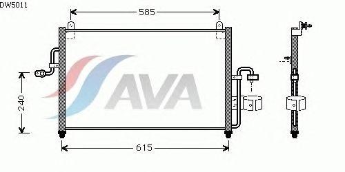 Радиатор кондиционера AVA QUALITY COOLING DW5011