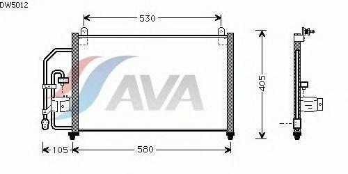 Радиатор кондиционера AVA QUALITY COOLING DW5012