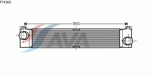 Интеркулер AVA QUALITY COOLING FT4360