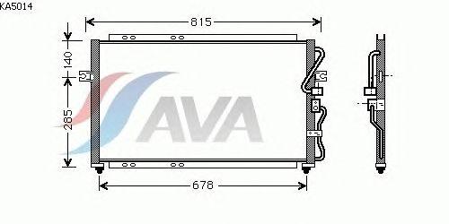 Радиатор кондиционера AVA QUALITY COOLING KA5014