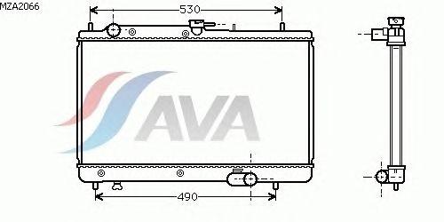 Радиатор, охлаждение двигателя AVA QUALITY COOLING MZA2066
