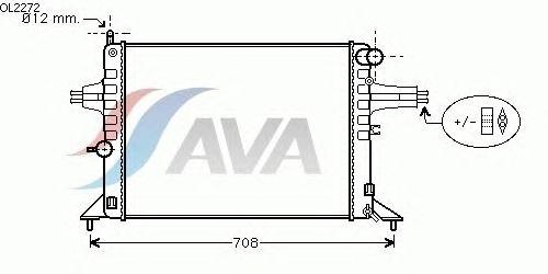 Радиатор, охлаждение двигателя AVA QUALITY COOLING OL2272