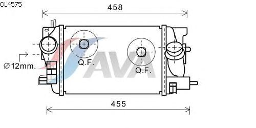 Интеркулер AVA QUALITY COOLING OL4575