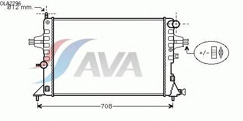 Радиатор, охлаждение двигателя AVA QUALITY COOLING OLA2296