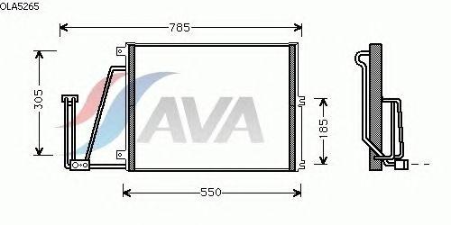 Радиатор кондиционера AVA QUALITY COOLING OLA5265