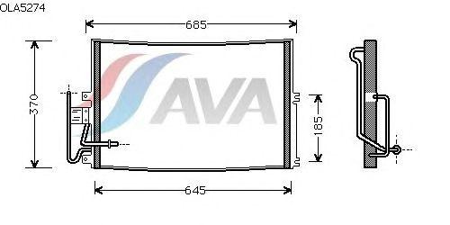 Радиатор кондиционера AVA QUALITY COOLING OLA5274