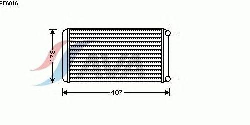 Радиатор отопителя AVA QUALITY COOLING RE6016
