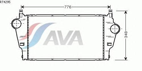 Интеркулер AVA QUALITY COOLING RT4295