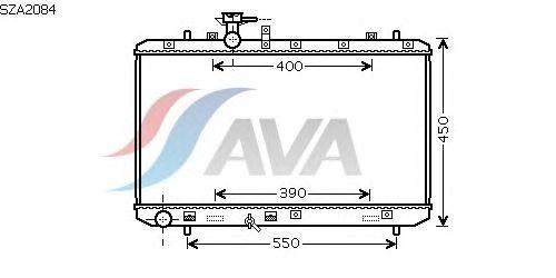 Радиатор, охлаждение двигателя AVA QUALITY COOLING SZA2084