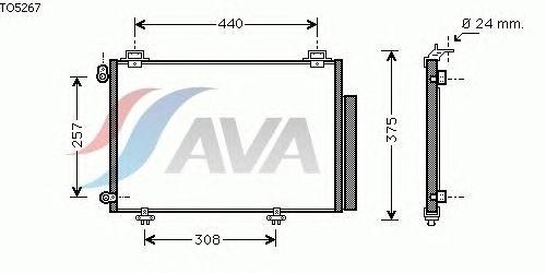Радиатор кондиционера AVA QUALITY COOLING TO5267