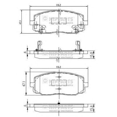 Тормозные колодки NIPPARTS J3600323