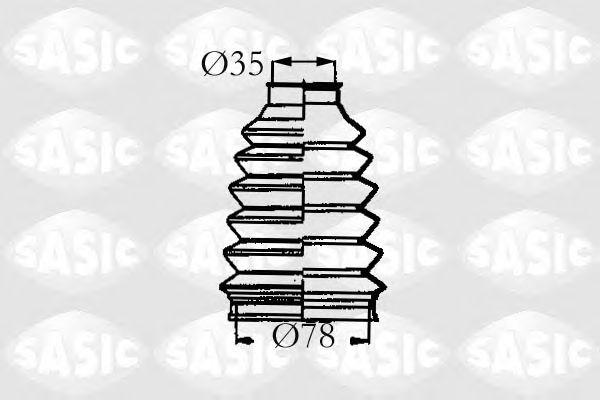 Комплект пыльника ШРУСа SASIC 4003457