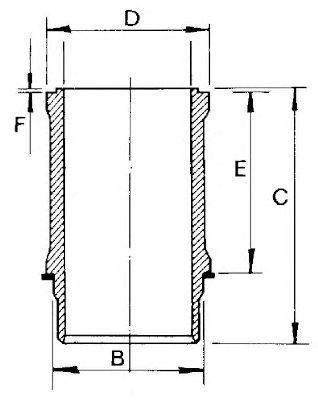 Гильза цилиндра GOETZE ENGINE 14-112800-00