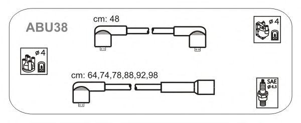 Комплект высоковольтных проводов JANMOR ABU38