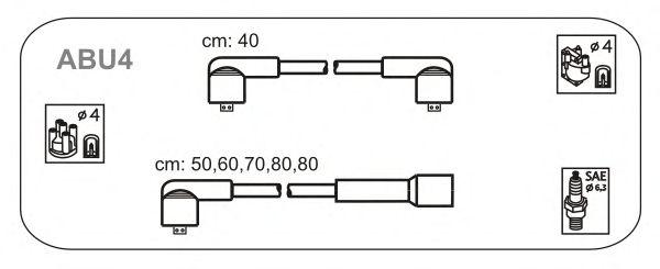 Комплект высоковольтных проводов JANMOR ABU4