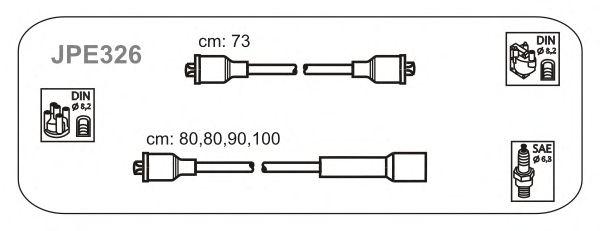 Комплект высоковольтных проводов JANMOR JPE326