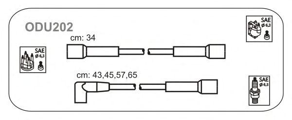 Комплект высоковольтных проводов JANMOR ODU202