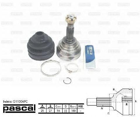 Комплект ШРУСов PASCAL G11006PC