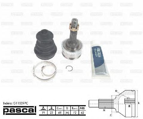 Комплект ШРУСов PASCAL G11039PC