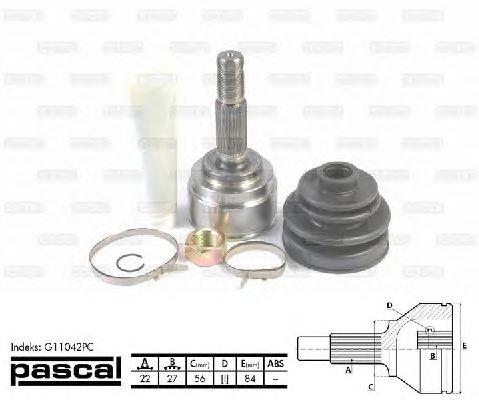 Комплект ШРУСов PASCAL G11042PC