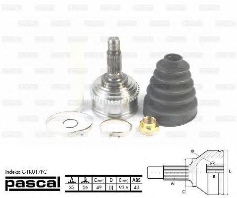 Комплект ШРУСов PASCAL G1K017PC