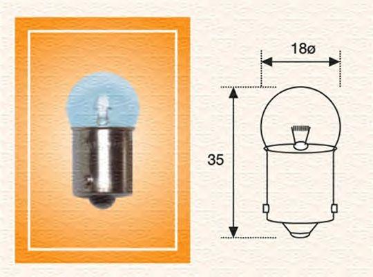 Лампа накаливания MAGNETI MARELLI 004009100000 (фонарь освещения номерного знака, внутреннее освещение, задний габаритный фонарь)