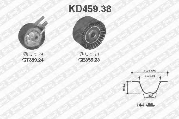 Комплект ремня ГРМ SNR KD459.38