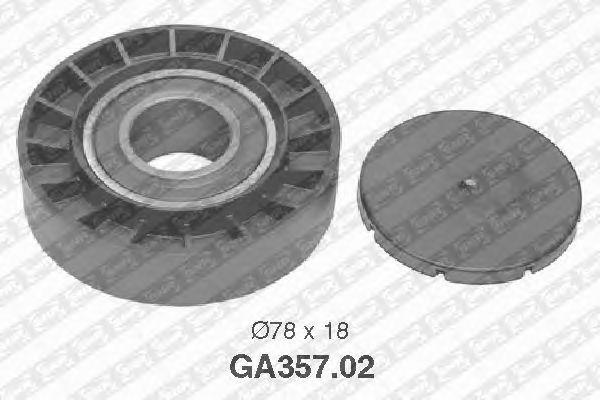 Направляющий / паразитный ролик  поликлинового ремня SNR GA357.02