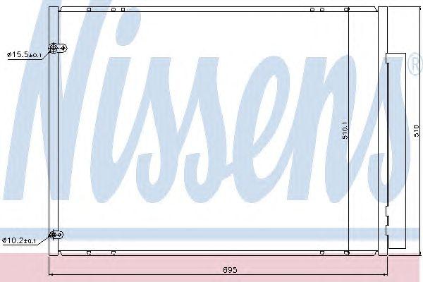 Радиатор кондиционера NISSENS 940298