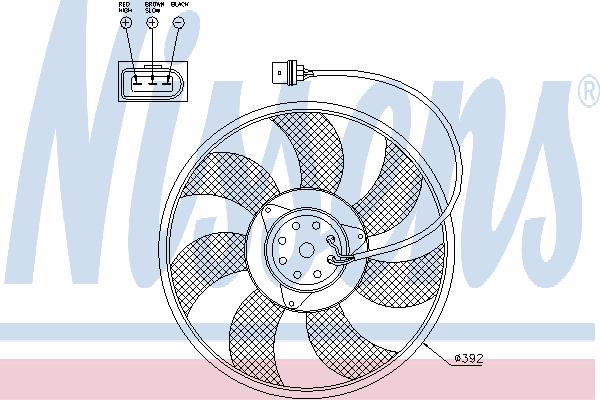 Вентилятор охлаждения NISSENS 85549