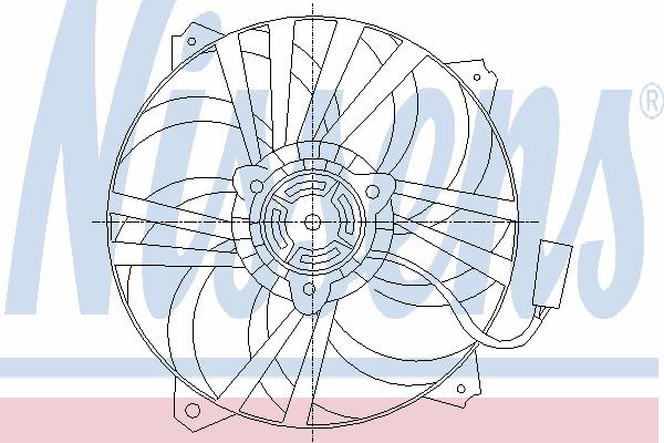 Вентилятор охлаждения NISSENS 85561